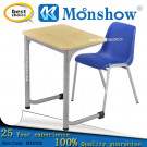 Wood Steel Plastic Single Desk and Chair (MXS109)
