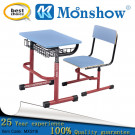 Wooden Adjustable Student Desk and Chair, School Furniture