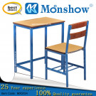 Wooden Study Table and Chair for School Furniture