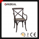"""Noosa"" French Bistro Style Timber Cross Back Dining Chair (OZ-SW-032)"