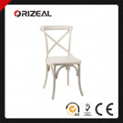 """Noosa"" French Bistro Style Timber Cross Back Dining Chair (OZ-SW-038)"