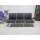 (SS-058) Commercial Furniture Stainless Steel PU Leather Public Chair