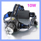 1000 Lumens 10W Adjustable Rechargeable CREE Xml T6 LED Headlamp Light