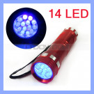 14 LED 395nm Black Light UV Flashlight Torch for Pet Dog Cat Urine Detector
