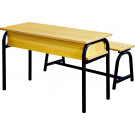 2014 Cheap High Quality Classroom Double Student Desk and Chair Set (SF-26D)