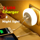 2015 Professional Patented Creative Electro-Optical Control Sensor Lights Dual USB Charger Nightlight