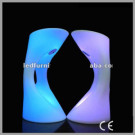 Battery Operated LED Bar Stool/High Round Stool for Bar/Glowing LED Bar Stools