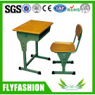 Wooden Middle Cheap Single School Desk and Chair Classroom Furniture