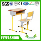 Wooden Single School Student Desk and Chair