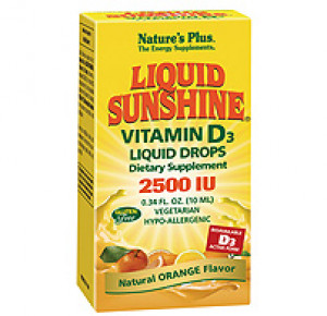 Liquid Sunshine Vitamin D3 2500 IU Liquid Drops - Orange Flavour