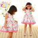 2015 Popular High Quality Butterfliy Summer Cotton Baby Dress (9318V)