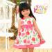 Apple Printing Bowknot Tunics Baby Clothes, Baby Dress
