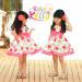 Fashion Wholesale Apples Baby Girl Printed Summer Dress (9317V)