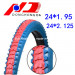 Top Sale Color Tire 24*1.95, 24*2.125 Bicycle Tire