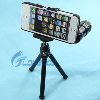 12X Optical Zoom Telescope Camera Lens + Tripod + Case for iPhone 5 5g New