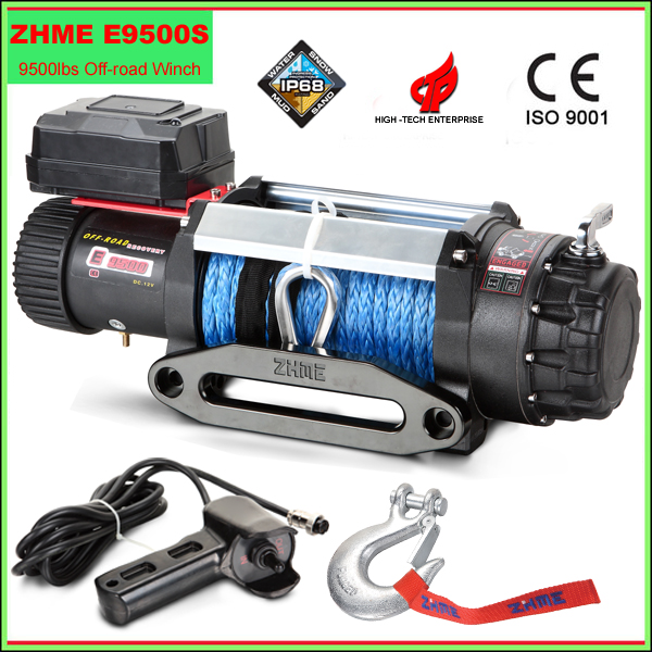 9500lbs Super Truck Winch with Synthetic Rope