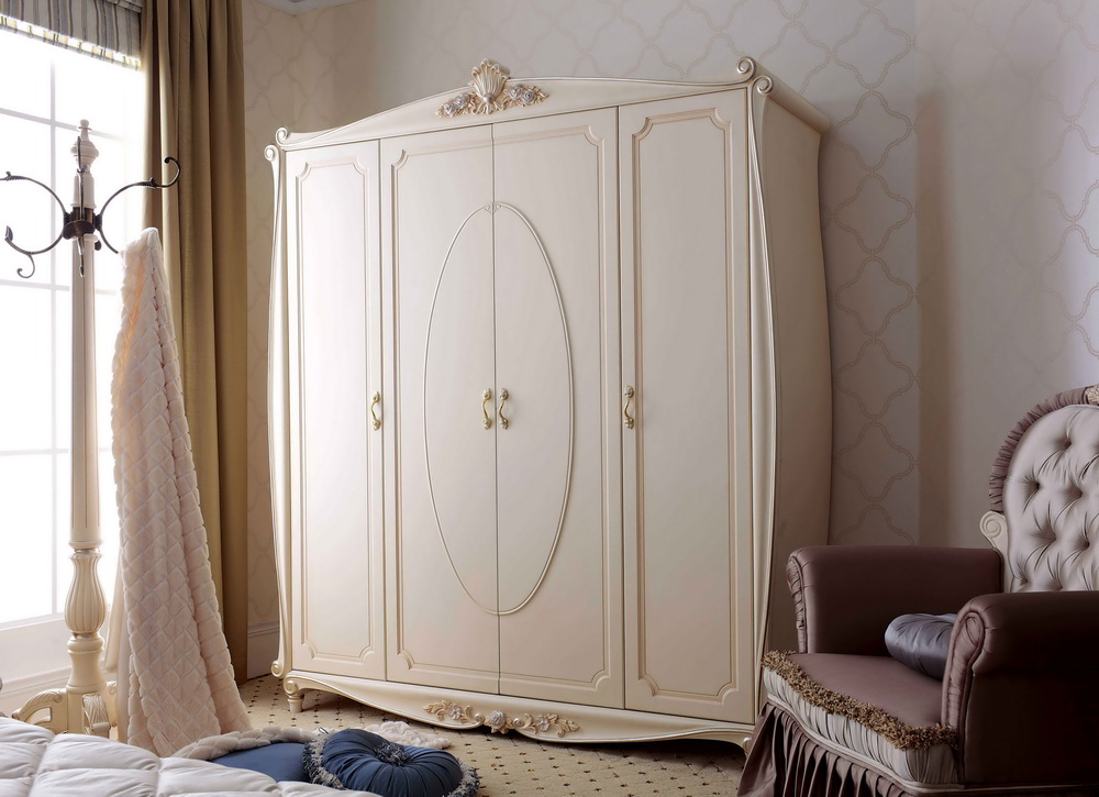 Classical Wooden Bedroom Furniture-Jl-1008A-1 Wardrobe